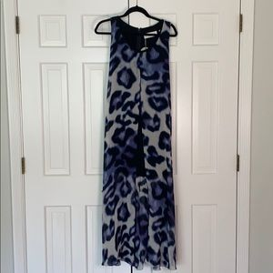 NWT Blue Leopard Print Summer Dress